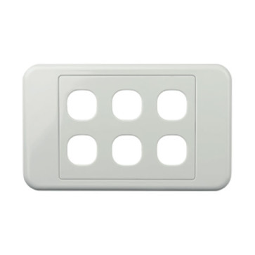 Digitek Custom 6 Gang Wall Plate White 05DWP06