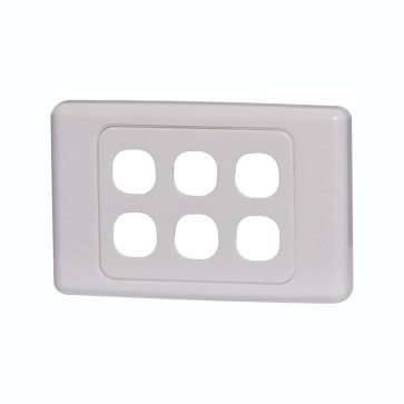Clipsal 2000 Series 6 Gang Grid Plate 2036VHWE