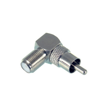 RCA Male to F Type Female Right Angle Adapter