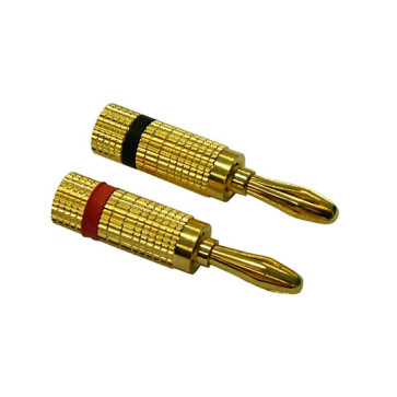 Premium Speaker Banana Plugs (1 Red & 1 Black)