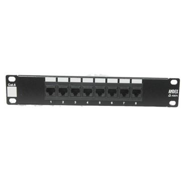 """Amdex SOHO 10"""" CAT6 8 Port Patch Panel DA10-8P-C6"""