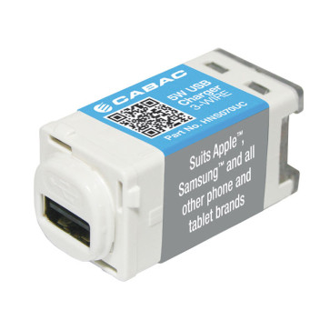 Cabac S-Click USB Charger 5W 3-Wire 5.2V 1A HNS070UC