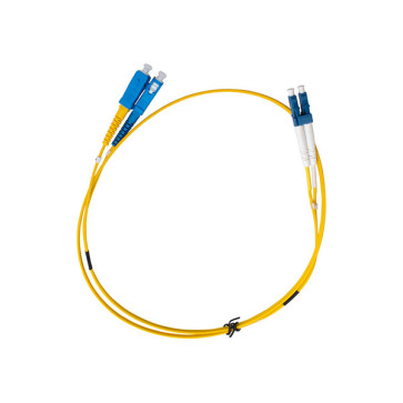 SC-LC OS1 Single Mode Duplex LSZH Fibre Patch Lead 1m