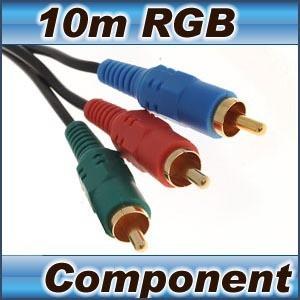 Component Video Cable RGB 3 RCA to 3 RCA 10m