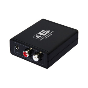 Analog to Digital Audio Converter - RCA or 3.5mm to Optical or Coax