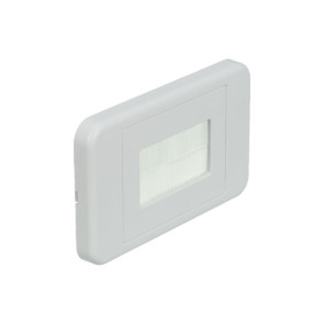 Flat Nose Media Cable Manager Brush Wall Plate