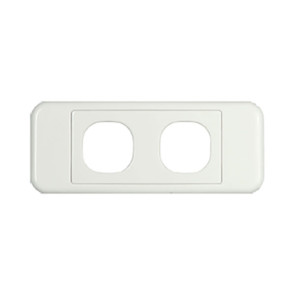 Digitek Architrave 2 Gang Wall Plate White 05DAWP02