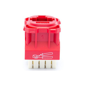 Amdex CAT6 RJ45 Network Insert Red DA600RED