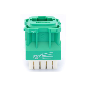 Amdex CAT6 RJ45 Network Insert Green DA600GRN