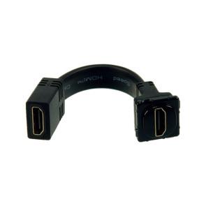 Digitek HDMI Wall Plate Insert Black (with Tail) 05BC6TBK