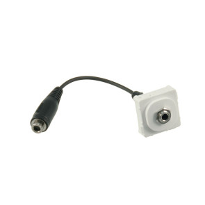 3.5mm Stereo Audio Wall Plate Insert (120mm Flylead)