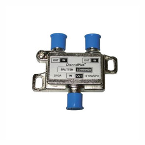 Channel Plus 2 Way Splitter / Combiner with DC & IR Pass Through