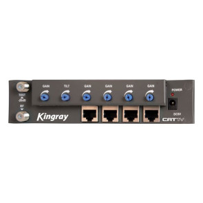 Kingray RF over CAT5 Amplifier 4 Outputs CAT1