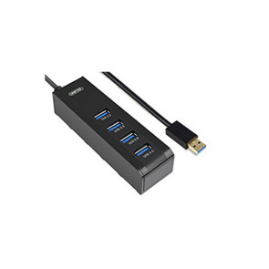 Unitek USB 3.0 SuperSpeed 4 Port Portable Hub - Host Powered