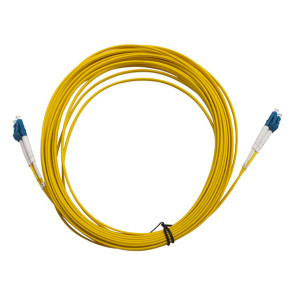 LC-LC OS1 Single Mode Duplex LSZH Fibre Patch Lead 25m