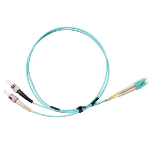 ST-LC Duplex OM3 Multimode Fibre Patch Lead 1m