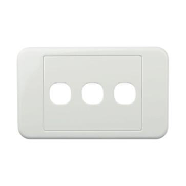 Digitek Custom 3 Gang Wall Plate White 05DWP03