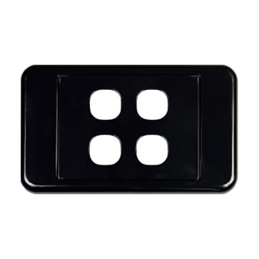 Digitek Custom 4 Gang Wall Plate Black 05DWP04BK