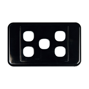 Digitek Custom 5 Gang Wall Plate Black 05DWP05BK