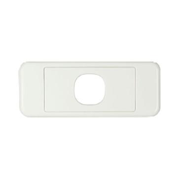 Digitek Architrave 1 Gang Wall Plate White 05DAWP01