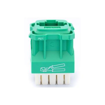 Amdex CAT6 RJ45 Network Insert Green DA600GRN