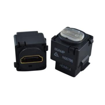 HDMI Wall Plate Insert (Black) v1.4 1080p 3D 4K (6 Pack)