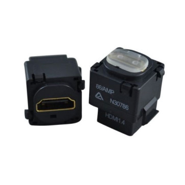HDMI Wall Plate Insert (Black) v1.4 1080p 3D 4K (20 Pack)