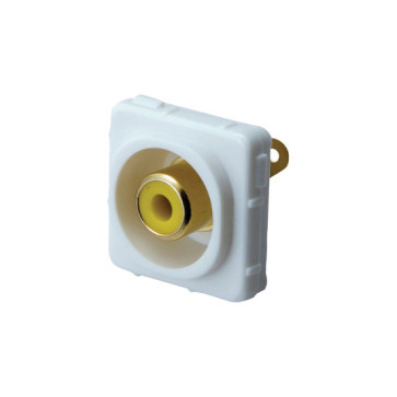RCA Yellow Female to Solder Rear Wall Plate Insert