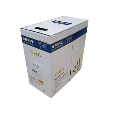 Grove CAT6 4 Pair Grey LAN Cable Box 305m AS-GN0002