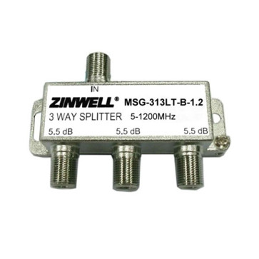 Zinwell 3 Way 1200Mhz Splitter for NBN HFC MSG-313LT-B-1.2