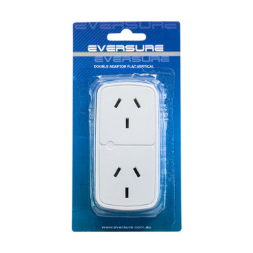 Eversure Double Adapter Flat Vertical PB20V