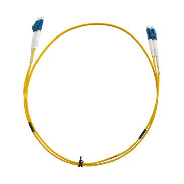 LC-LC OS1 Single Mode Duplex LSZH Fibre Patch Lead 2m