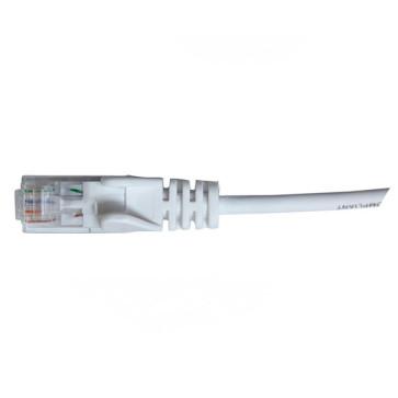 Hypertec CAT6 Slim Patch Lead 28awg White 0.5m