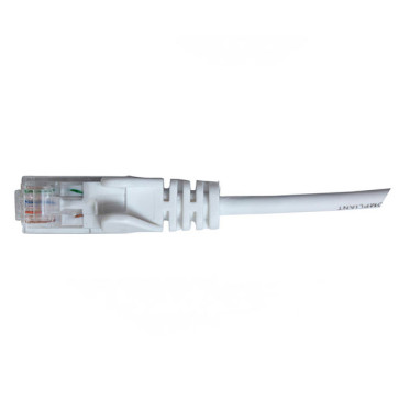 Hypertec CAT6 Slim Patch Lead 28awg White 1m