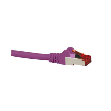 Hypertec CAT6A Shielded Patch Lead Purple 5m HCAT6APU5