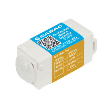 Cabac S-Click Continuous Motion Detector 3-Wire 230V HNS060MD
