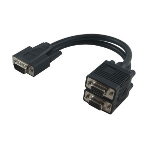 VGA Y-Split Cable Male to Female / Female 20cm