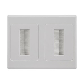 Pro2 Brush Dual Cable Management Wall Plate PRO1273