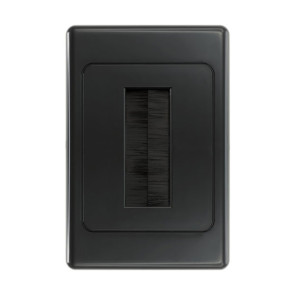 Pro2 Brush Cable Management Wall Plate Black PRO1272B