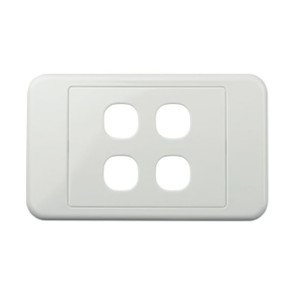 Digitek Custom 4 Gang Wall Plate White 05DWP04