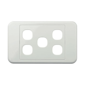 Digitek Custom 5 Gang Wall Plate White 05DWP05