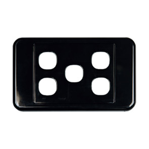 Digitek Custom 5 Gang Wall Plate Black 05DWP05BK