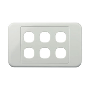 Digitek Custom 6 Gang Wall Plate White 05DWP06
