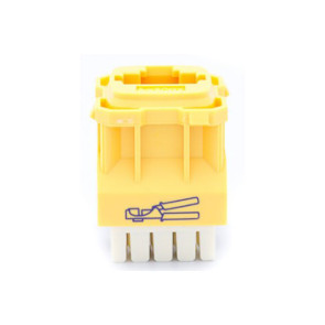 Amdex CAT5e RJ45 Network Insert Yellow DA103YEL