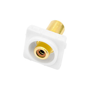 RCA Orange Female Recessed to F Type Female Wall Plate Insert