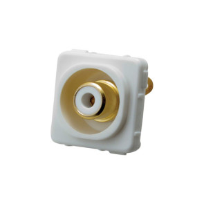 RCA White Female to Solder Rear Wall Plate Insert