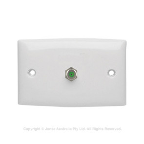 Wall Plate 1 x F-Type Female 3Ghz APO2F3
