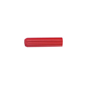 Cabac Wall Plug 6G x 25 Red PKT/100 WP25R
