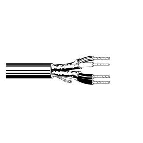 Belden 2 Pair Shielded Foil Cable 22awg 305m Grey (Beldon 8723) Pull Box