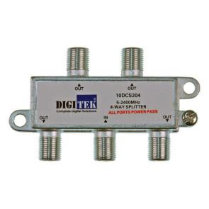 Digitek 4 Way F Type TV Antenna Splitter 5-2400Mhz ALPP